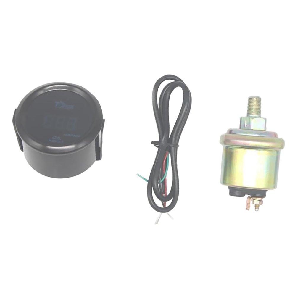 Dolity 52mm 120 PSI Manometro Pressione Digitale Sensore Pressione Olio Universale Automobile