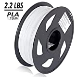 dikale PLA 3D Printer Filament - 1KG(335m/1099ft) 1.75mm, Dimensional Accuracy +/- 0.02 mm, 1KG Spool 1.75 mm, White