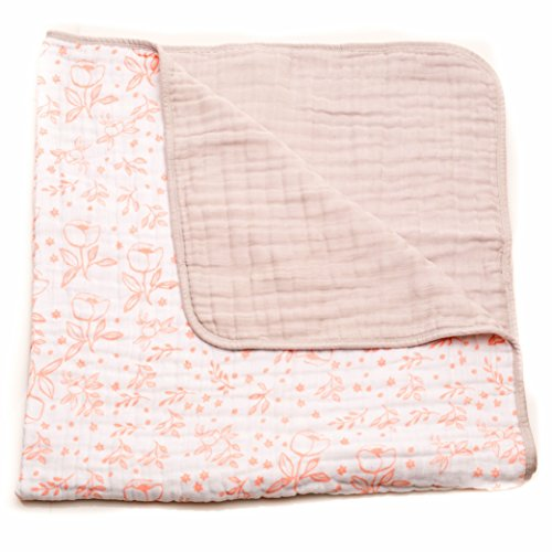 Little Unicorn Cotton Muslin Blanket Quilt - Garden Rose