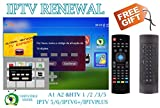 IPTV Subscription HTV HTV3 HTV5 A1 A2 Brazil Box A2 IPTVKINGS IPTV5+ IPTV6 IPTV6+ Tigre Tiger Brazilian One 1 Renew Code with Fly Mouse