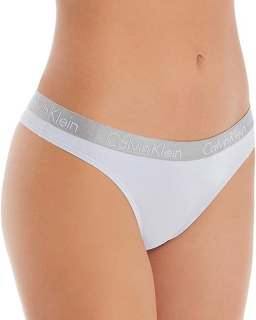 Calvin Klein Radiant - Tanga de algodón para mujer - - S: Amazon.es: Ropa y accesorios