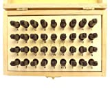 36 PC 2mm Steel Punch Capital Alphabet Letter & Number Stamp Set Stamping Kit