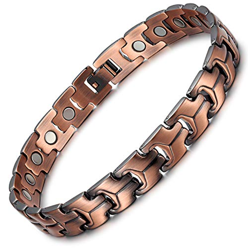 Rainso Pure Copper Magnetic Therapy Anklets for Men Pain Relief for Arthritis Adjustable (Copper Anklet)