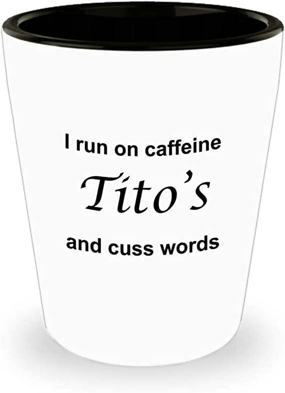 Tito Moscow Mule Mug - Shot Glass Gifts For Moscow Mule Cocktail - Birthday Gifts - Ginger Beer-Best Funny Shotglass Vodka - Novelty Gift Unique Idea Ceramic White 9oz Sexy