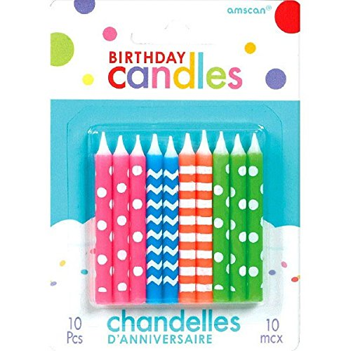 Neon Birthday Candles | Party Supply ()