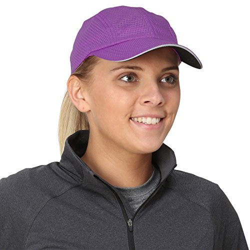 TrailHeads Race Day Performance Running Cap | The Lightweight, Quick Dry, Sport Cap for Women - Radiant Purple