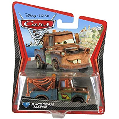 Disney / Pixar CARS 2 Movie 155 Die Cast Checkout Lane Package Race Team Mater (1 Car Included): Toys & Games