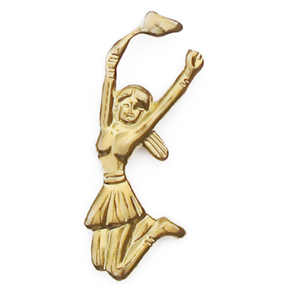 Cheerleader Gold Chenille Sports Lapel Pin by JDS Industries