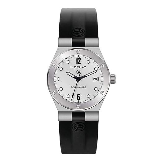 Reloj L.Bruat señora LB29 4303 Scaphandre Esfera blanca: Amazon.es: Relojes