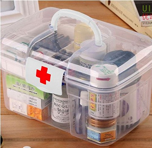2-layers-health-pill-chest-aid-kit-medicine-drug-bottle-storage-container-box-clear-plastic-by-stcor