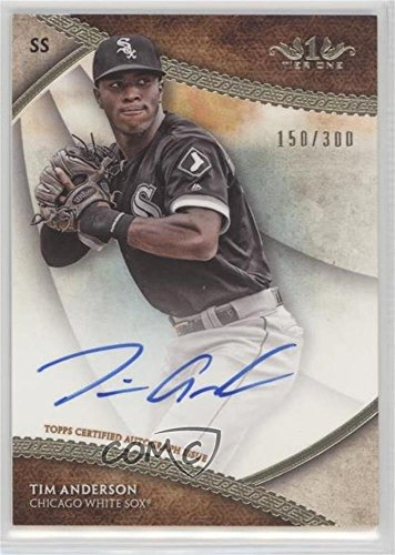 Tim Anderson #150/300 (Baseball Card) 2017 Topps Tier 1 - Break Out Autographs #BOA-TA