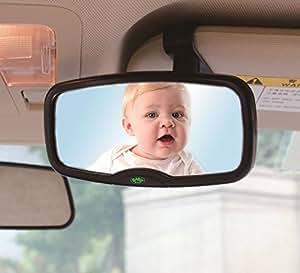 Espejo retrovisor de seguridad 2 en 1 clip para visera for Espejo retrovisor para vigilar bebe