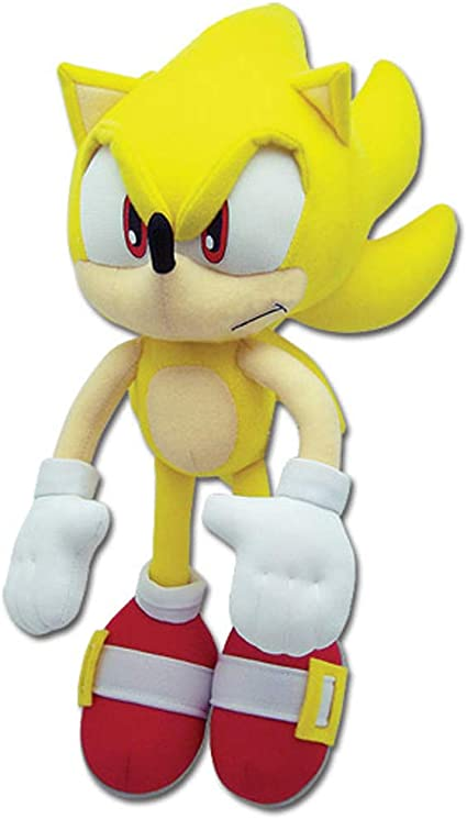 Amazon Com Sonic The Hedgehog Great Eastern Ge 8958 Plush Super Sonic 12 Toys Games