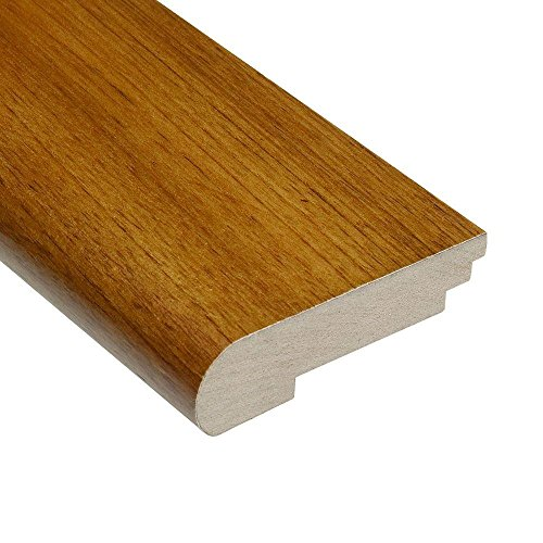 Teak Natural 3/4 in. Thick x 3-1/2 in. Wide x 78 in. Length Hardwood Stair Nose Molding