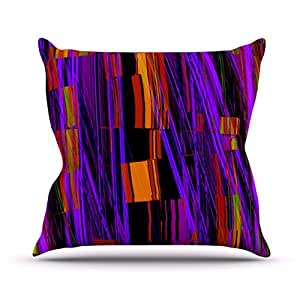 """Kess InHouse Nina May """"Threads"""" Outdoor Throw Pillow, 26 by 26-Inch"""