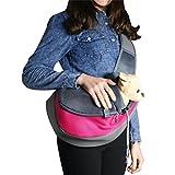 PetsLove Comfortable Polyester Dog Sling Bag Pet Carrier Cat Bag Shoulder Bag for Dog Outside Walking Small Rose Red For Sale