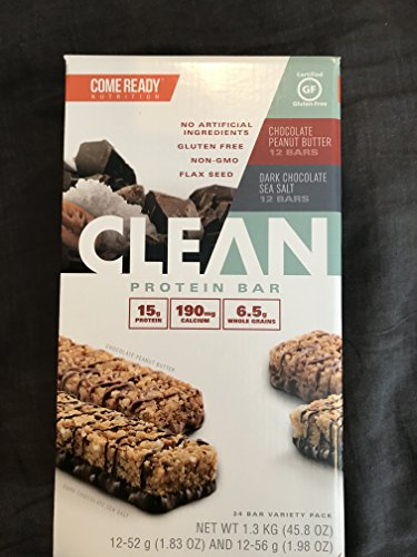 Come Ready Nutrition Clean Protein Bars 24 pack by CLEAN