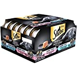 SHEBA PERFECT PORTIONS Paté Multipack Delicate Salmon and Tender Whitefish & Tuna Grain Free Cat Food 2.6 Ounces (24 Twin Packs)