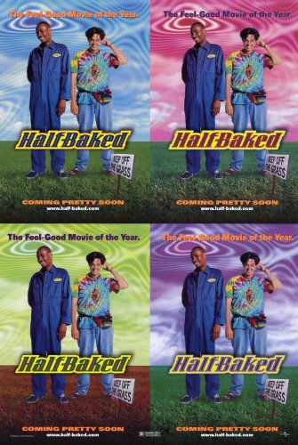 Half Baked Talking picture Poster (11 x 17 Inches - 28cm x 44cm) (1997) Style A -(Tracy Morgan)(Harland Williams)(Dave Chappelle)(Jim Breuer)(Guillermo Diaz)(Rachel Correct)