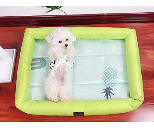 Enzhe Pet Design Incantevole Cute Dog Cats Puppy Cooling Pad Cuscino Cold Bed Sleeping Mat (verde, M)