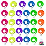 Hicdaw 61PCS Magic Worms Wiggly Worm on A String Twisty Fuzzy Worm Toys for Carnival Kid Party Favors