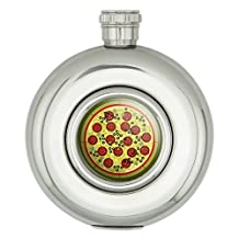 Round Stainless Steel 5oz Hip Flask Food Drink Bacon Coffee - Snacks Chips Candy Vending Machine