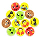"Sol Coastal Emoji Beach Bums 12"" Beach Balls with Poo, Alien and Devil Emojis, 12 Pack"