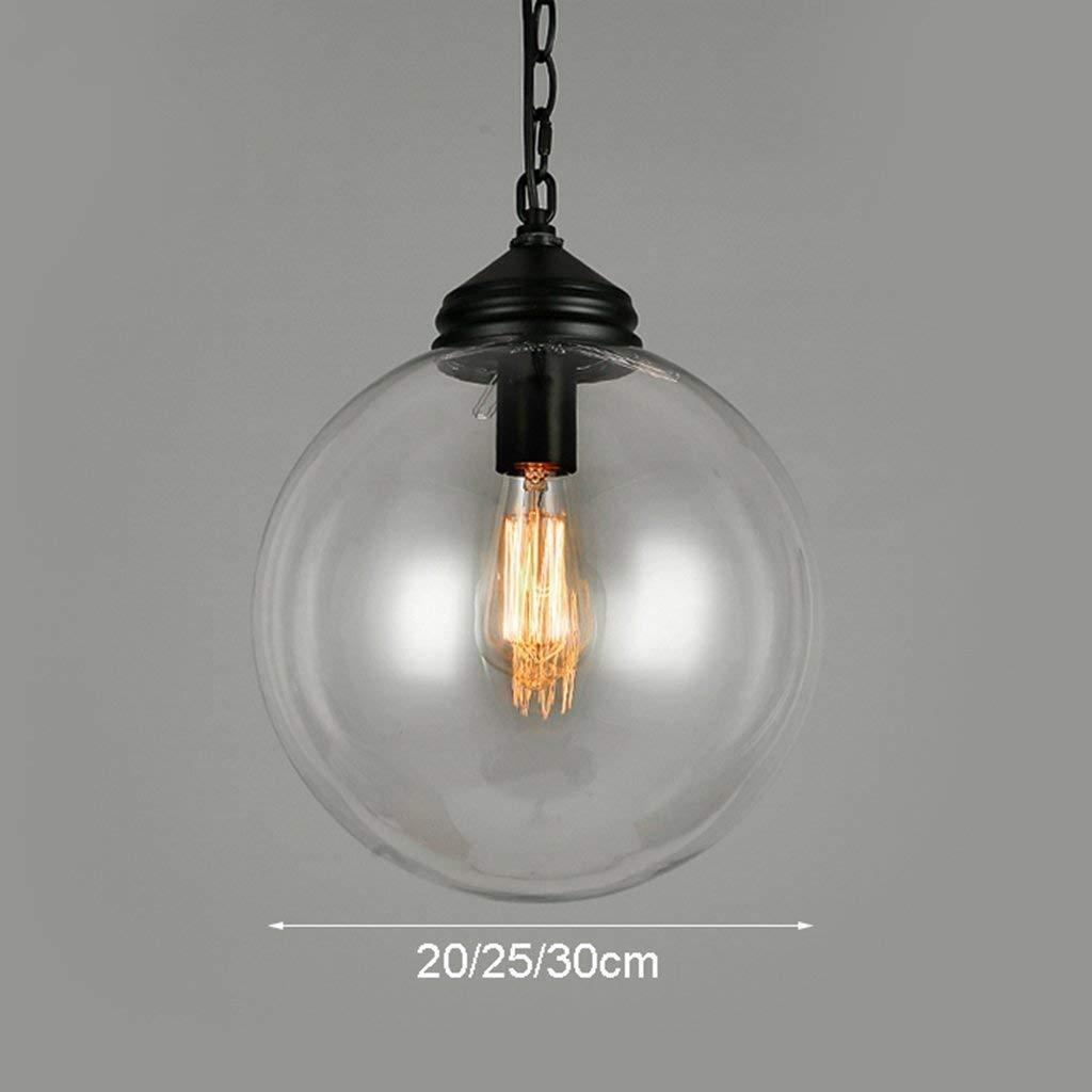 JZX von Simple Transparent Glass Chandelier Chandelier Restaurant Bar Terrace Lights Lampe.