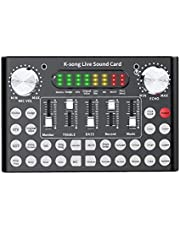 $65 » Ouying V10 Live Sound Card Voice Changer Device, with Bluetooth&Sound Effect, Femate 2-Channel Mini Audio Mixer Board, for Ps4 Xbox One Switch Phone Computer Laptop Tablet Dj Music Karaoke Singing
