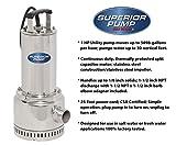 Superior Pump 91197 Stainless 1 HP Steel Utility Pump