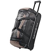 Samsonite Luggage Andante Drop Bottom Wheeled Duffel, Black/Grey, 28 Inch