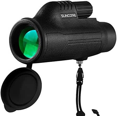 ZENQAI 10X42 Compact Monocular - Bright and Clear - Single Hand Focus - Waterproof, Fogproof - For Bird Watching, or Wildlife - Tripod For Hands Free Viewing - Daytime Use