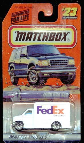 Matchbox 1999-23 100 Series 5 FedEx Speedy Delivery Ford Box Van 1 64 Scale by Matchbox