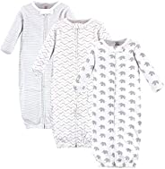 Touched by Nature Unisex-Baby Organic Cotton Zipper Gowns