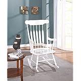 Major-Q Sh70102014 Simple White Rocking Chair
