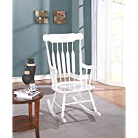 Bella 70102014 Adriana Classic Cottage Rocking Chair, White