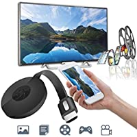 Miracast 1080P G2-4 Generation Digital HDMI Media Video Streamer For iOS/Android (Black, 1pcs)