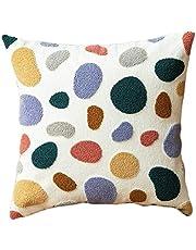Cute Polka Dots Embroidered Pillow Cushion Soft Floral Cushion Home Decoration Floral Cushion Nice