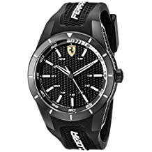 Ferrari Men's 0830249 REDREV Analog Display Japanese Quartz Black Watch