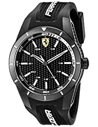 Ferrari Men's 0830249 REDREV Analog Display Japanese Quartz Black Watch