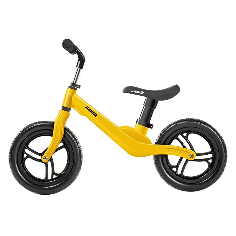 GHL Bambino Bilancia l'auto 12 Pollici Nessun Pedale Passo Scorrevole planata Auto Fit 1-3 Anni Vuoto Pneumatico,giallo