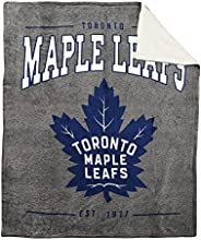 Nemcor NHL Toronto Maple Leafs Super Lux Sherpa Throw Blanket (50 x 60) Super Soft Warm Throw for Bedroom Couc