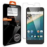 Nexus 5X Screen Protector, Spigen® [Tempered Glass] [2 Pack] Easy-Install Wings Rounded Edge Glass for Google Nexus 5X (2015) - 2 Pack