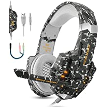[Sponsored] BGOOO Stereo Gaming Headset for PS4, PC, Xbox One,Professional 3.5mm Noise Isolation Over Ear Headphones with Mic, LED Light, Bass Surround, Soft Memory Earmuffs for Laptop Mac Nintendo (Camouflage)