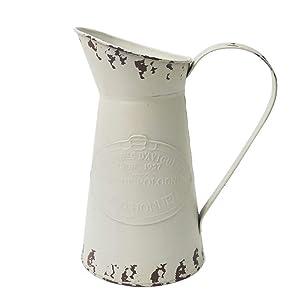 APSOONSELL Jarrón vintage de metal para decoración del hogar