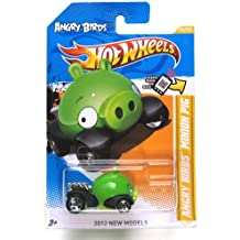 ANGRY BIRDS MINION GREEN PIG Hot Wheels 2012 New Models Series #35/50 Green Piggy 1:64 Scale Collectible Die Cast Car