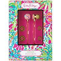 Lilly Pulitzer Ear Buds with Volume Control In Spot Ya
