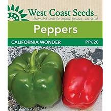 Sweet Pepper Seeds - California Wonder (approx. 35 seeds)