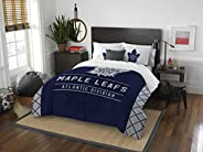 The Northwest Company Officially Licensed NHL Toronto Maple Leafs Draft Full/Queen Comforter and 2 Sham Set, B