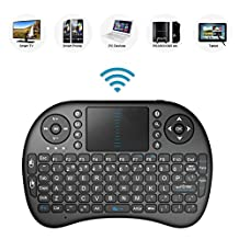 2.4GHz Mini Mobile Wireless Keyboard with Touchpad Mouse, Rechargable Li-ion Battery for Vizio P55-C1 M55-E0 M55-D0 Smart TV